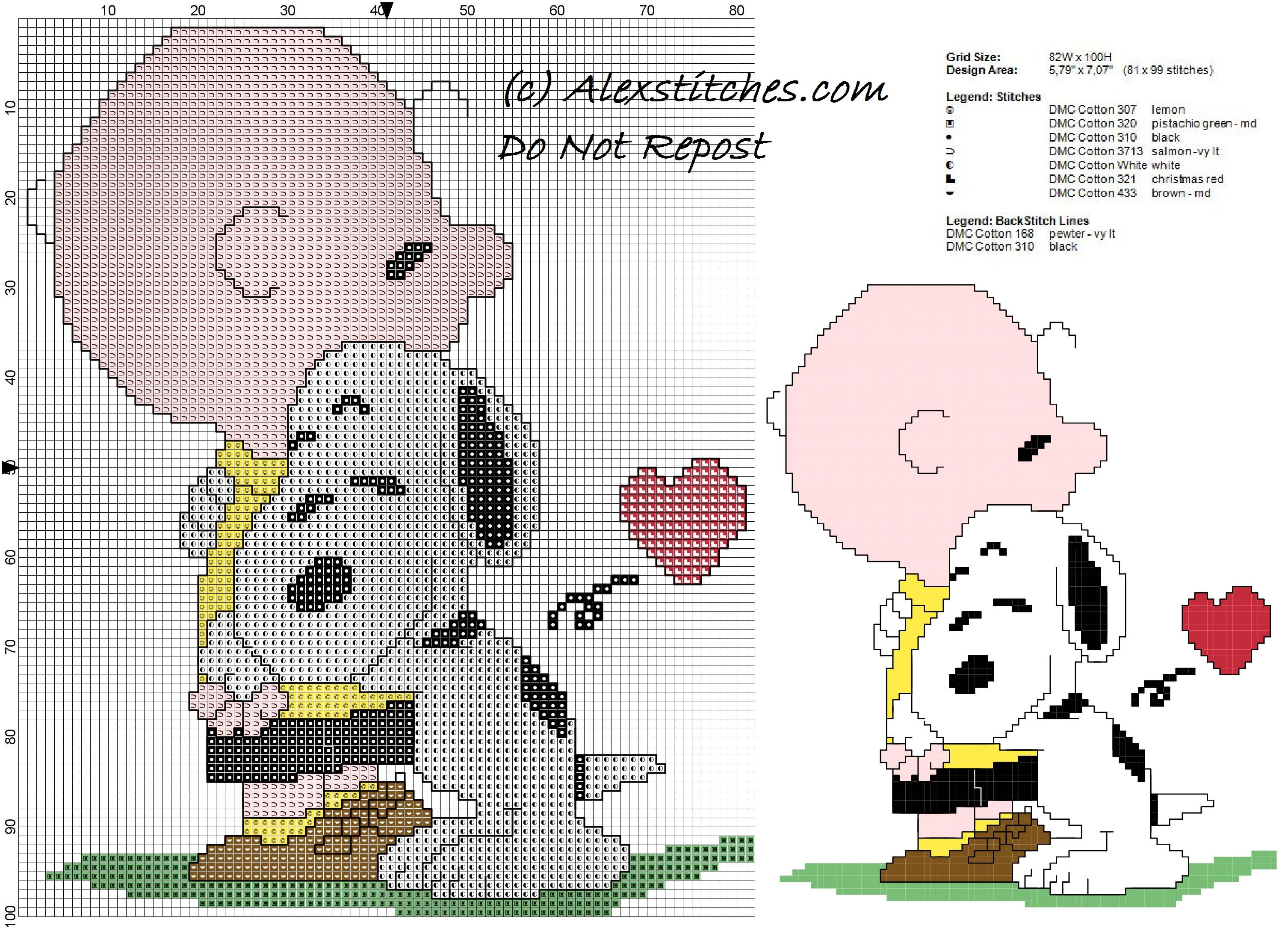 Charlie Brown e SNOOPY Punto Croce Kit