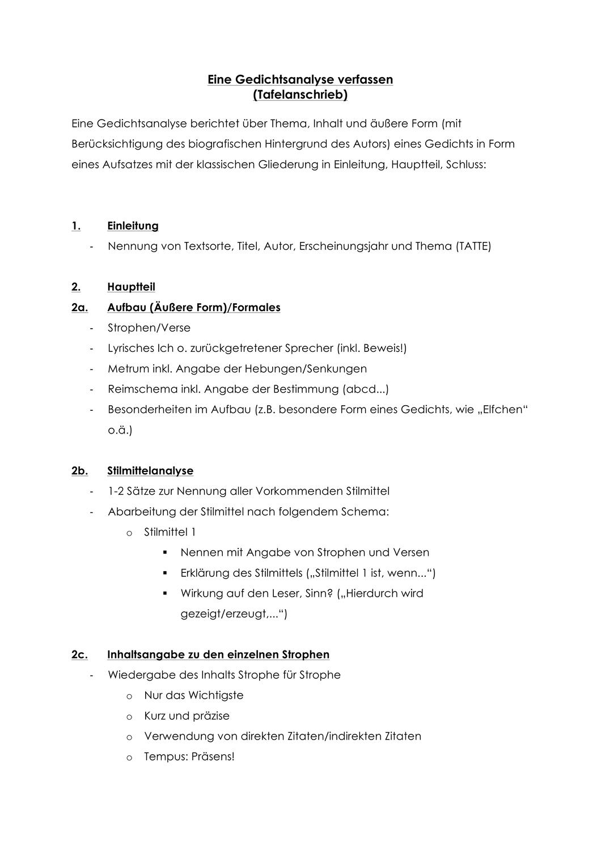 Gedichtsanalyse Zu Meyers In 2020 Gedicht Analyse Lernen Tipps Schule Deutsch Schreiben Lernen