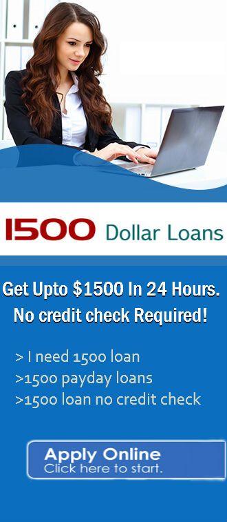 1500 Dollar Loan