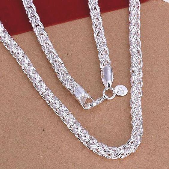1aa76192cf0dd womens 925 sterling silver 20 inch thick 6mm french rope chain ...