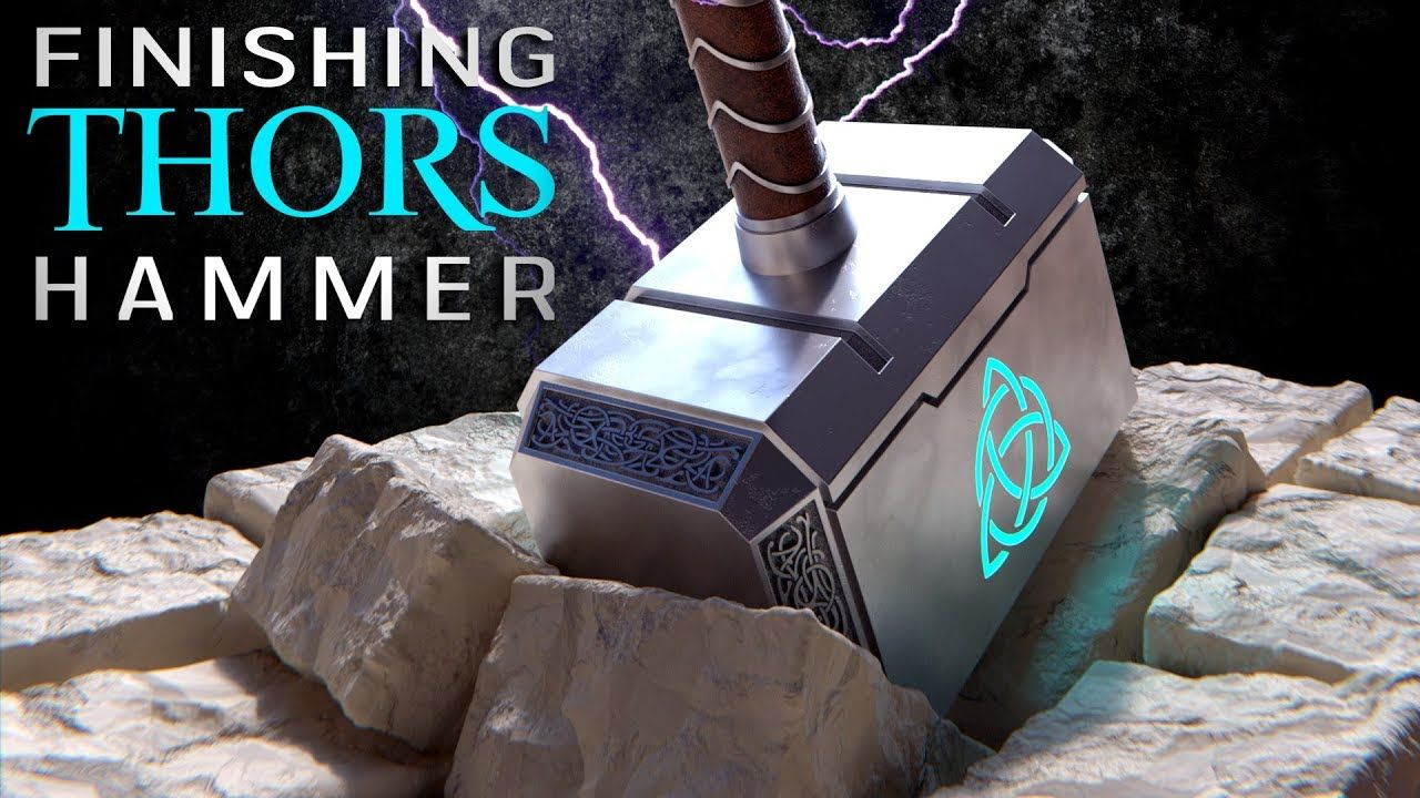 thor s hammer part 2 blender for beginners blender 3d