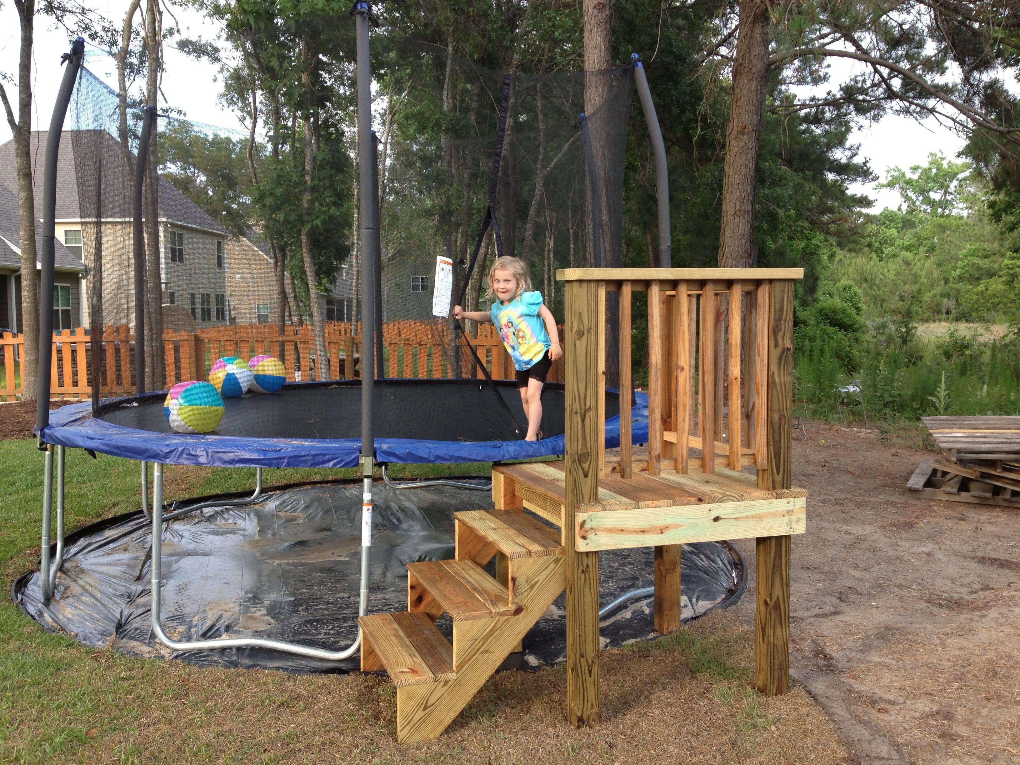 Pin By Jason Ruppert On Completed House Projects Backyard Trampoline Backyard Play Backyard Fun