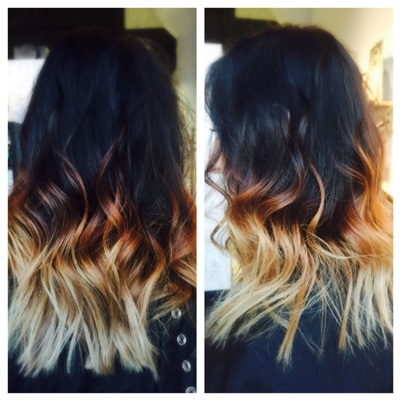 Darkest Brown To Blonde Balayage Ombr Hair Color Painting With