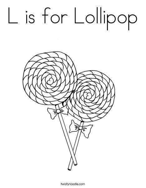 l is for lollipop coloring page twisty noodle