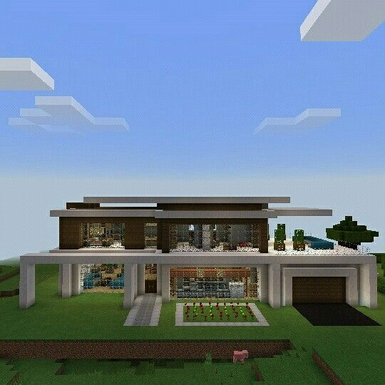 Casa moderna super genial minecraft construccion for Construccion casas