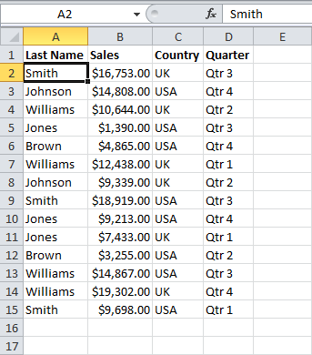 How Can You Select Non Adjacent Cells In Excel