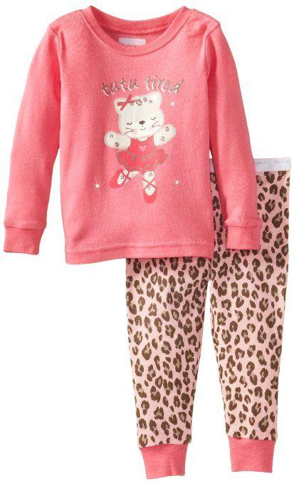 d72526ada Vitamins Baby Baby-Girls Infant Tutu Bear Two Piece Pajama Set ...