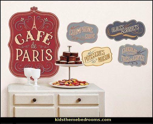 Cafe De Paris Wall Decals French Cafe Decorparis