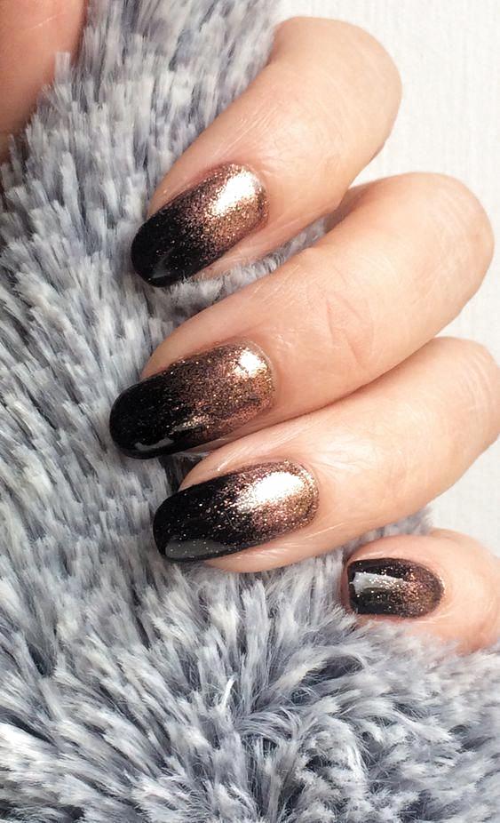 winter glitter nails; holiday nails; prom nails; wedding nail art designs; new year nails; Christmas