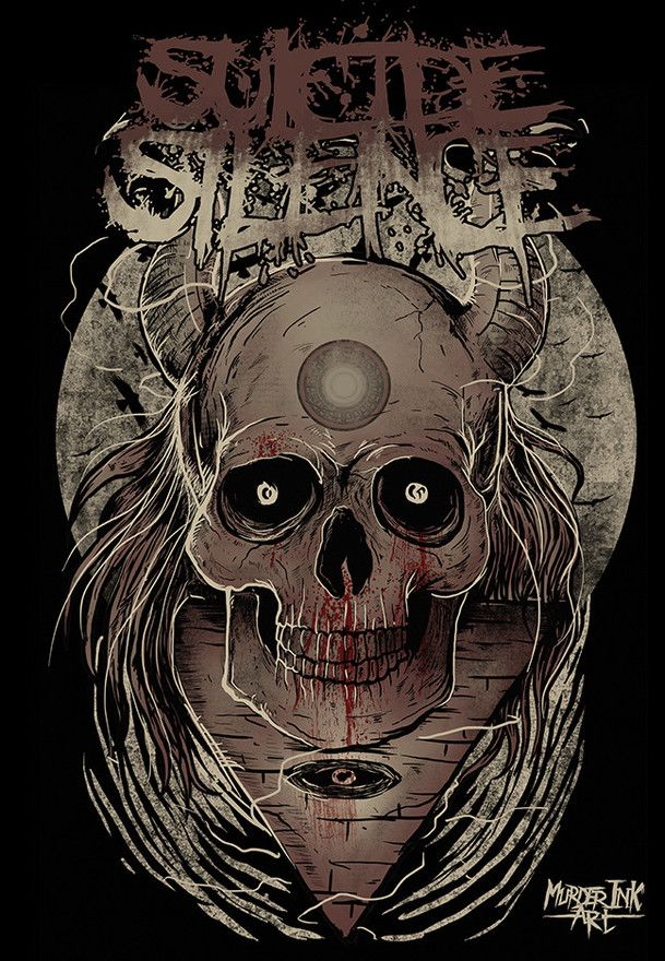 suicide silence by murderink art design poster pinterest mitch lucker death metal and. Black Bedroom Furniture Sets. Home Design Ideas
