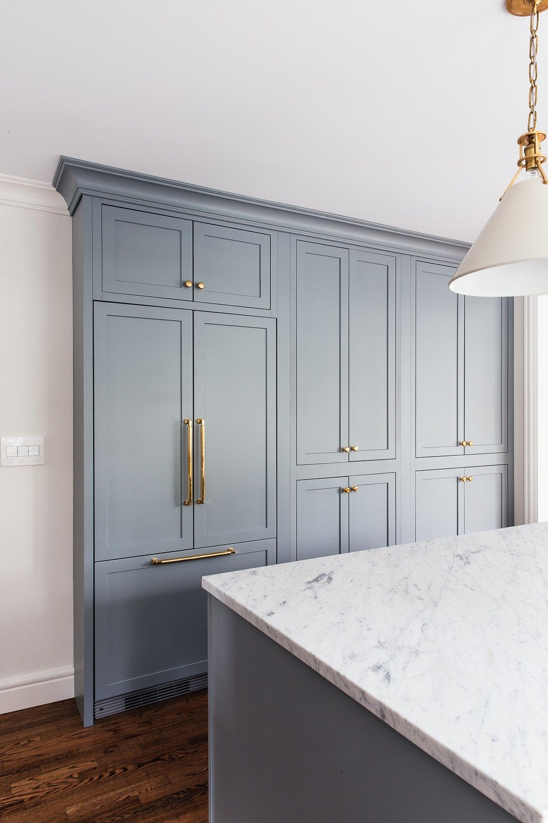 What I Love About This Fridge Is That It S Completely Flush With The Cabinetry And It S Affordab In 2020 Inset Cabinetry Kitchen Transformation Kitchen Pantry Cabinets
