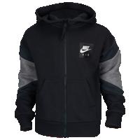 Nike Air Fleece Full Zip Hoodie Boys' Preschool Black