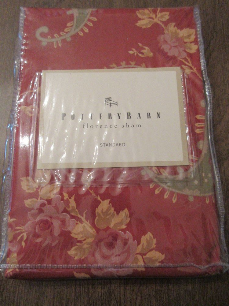 Pottery Barn Standard Sham Quot Florence Quot Roses Amp Paisley New