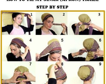 how to tie my sinar tichel shaped purple and mustard tichel mitpachat hijab hair covering snood. Black Bedroom Furniture Sets. Home Design Ideas