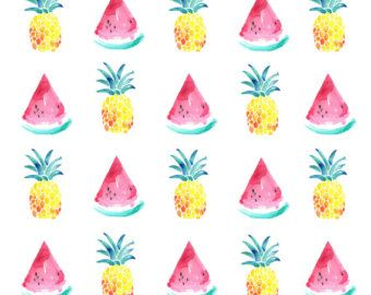 50 OFF Watermelon And Pineapple A5 Print WallpaperPineapple Wallpaper TumblrWatermelon
