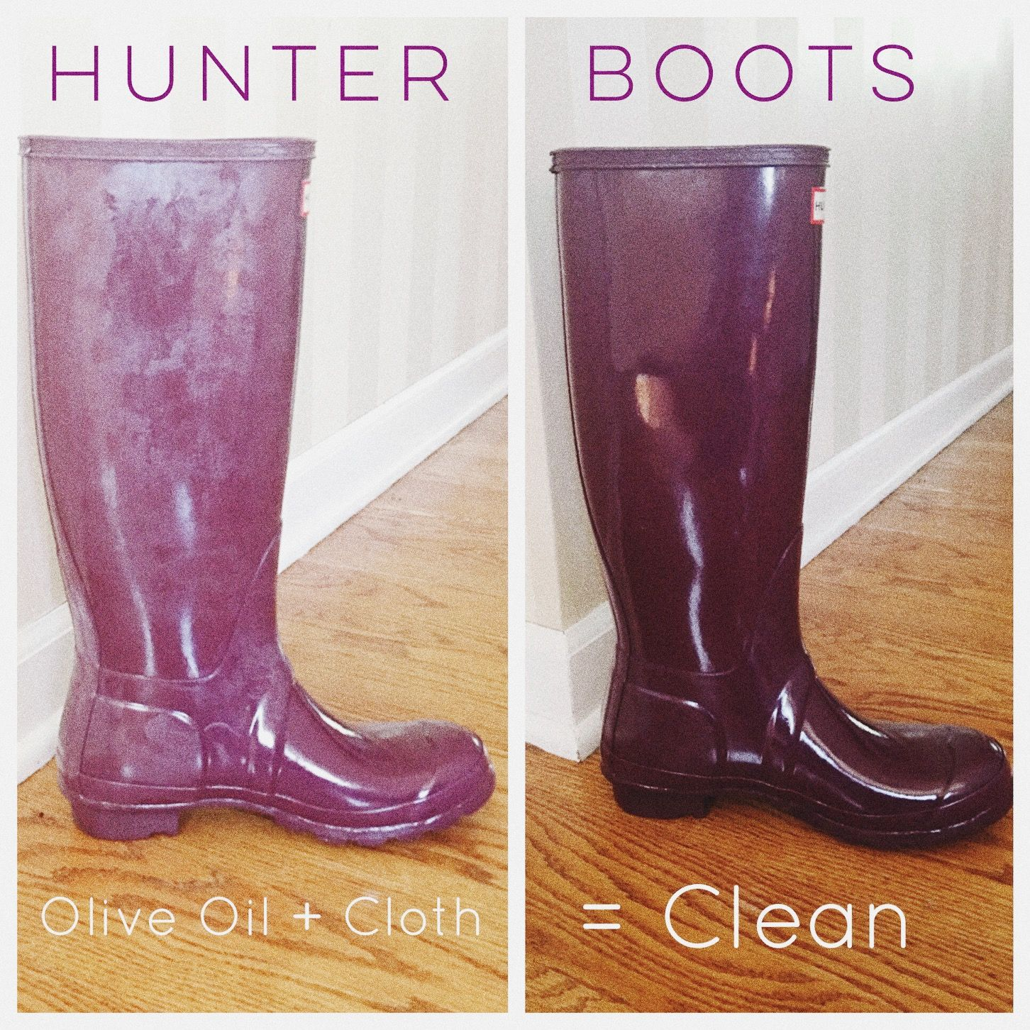 How to Clean Hunter Boots  Hunter boots, Clean hunter boots