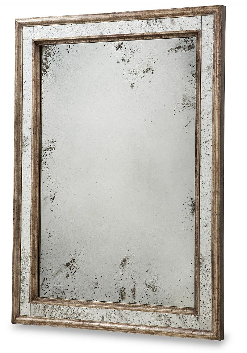 Dimensions 40 W X 54 H Hand Crafted Mirror Antiqued And Distressed 12k White Gold Finish With Umber Undertones Anti In 2020 Antique Mirror Mirror Ebanista