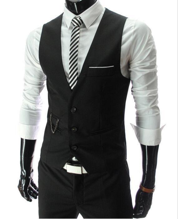 New Arrival Dress Vests For Men Slim Fit Mens Suit Vest Male ...