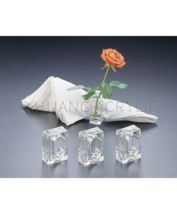 H 4416 2 in 1 Bud Vase Napkin Ring Set of 4 Products Kitchen