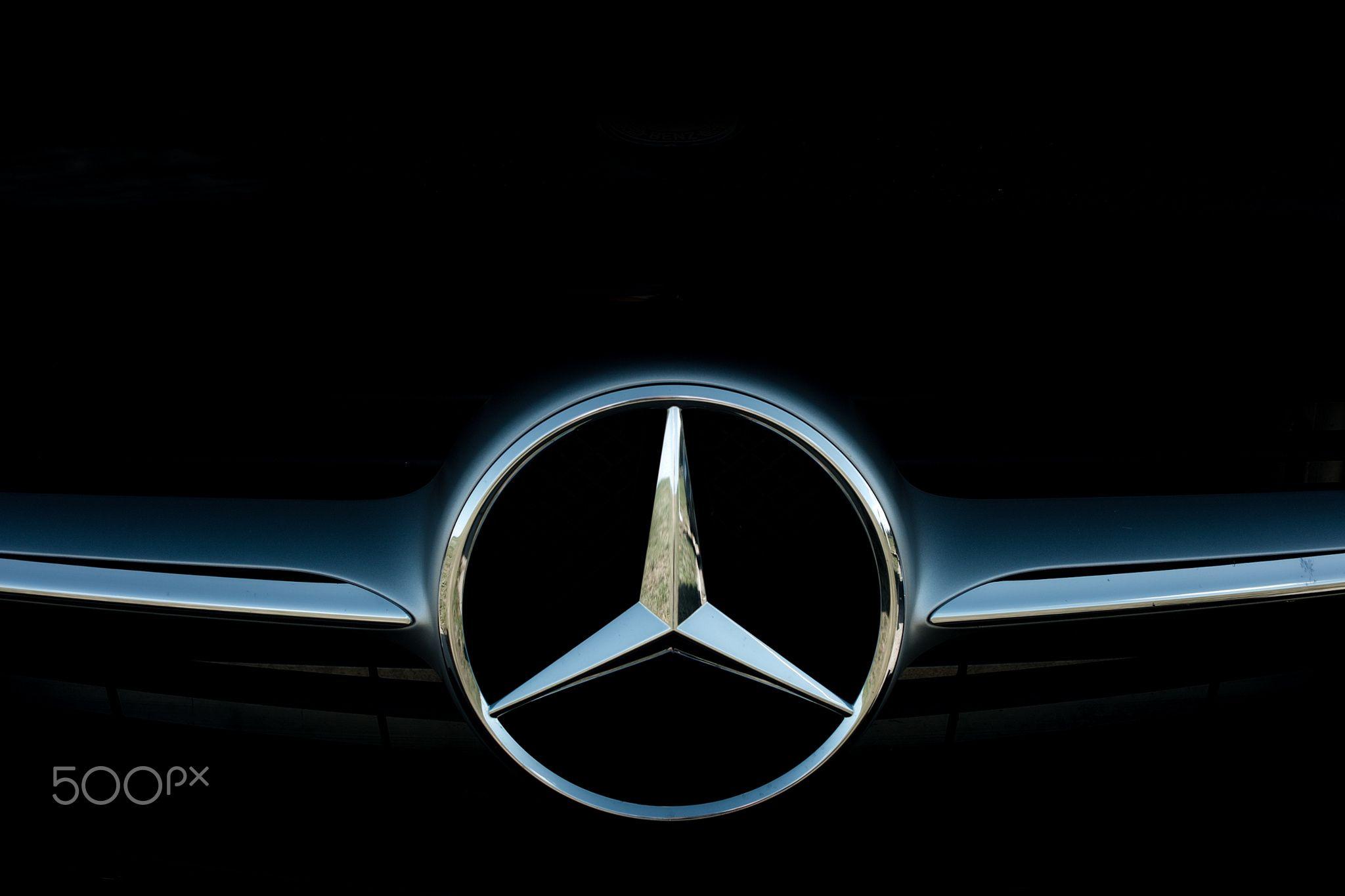 Silver star Сar logo. Icon MercedesBenz. AMG. eyes