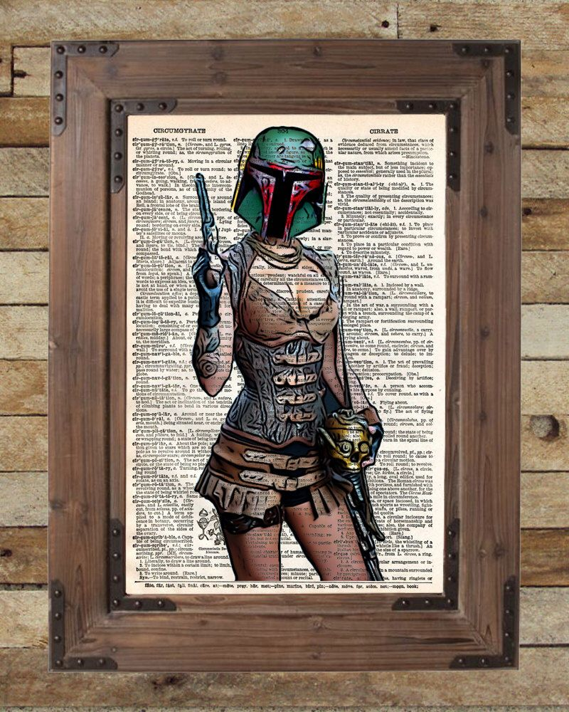 Boba Fett, Dictionary art print, star wars sexy steampunk girl book page art von Loft817 auf Etsy https://www.etsy.com/de/listing/182358990/boba-fett-dictionary-art-print-star-wars