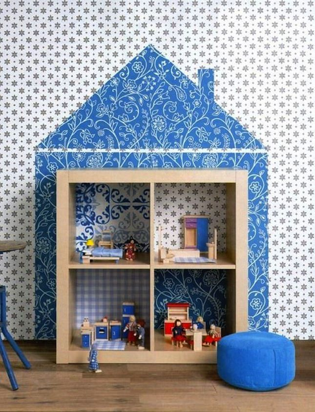 This kid 39 s room ikea hack is a perfect project for a snow day to make from brit co - Adorable dollhouse bookshelves kids to decorate the room ...