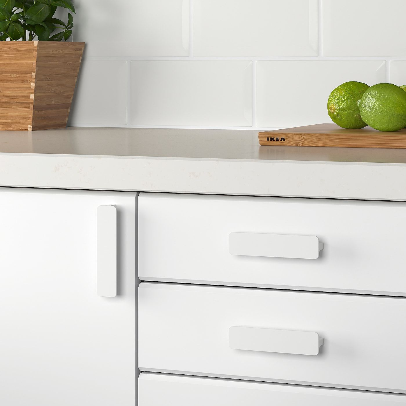HACKÅS Handle white IKEA in 2020 Kitchen cupboard