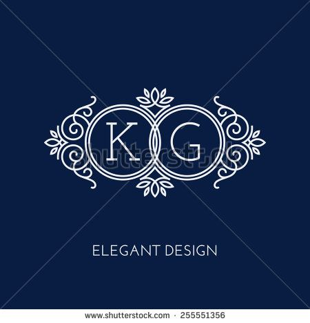 Set monogram template vector | Gomez, Valeria Quinceanera ...