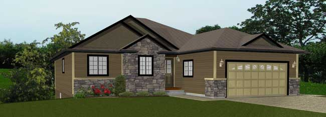 Walkout Basements By E Designs 1 House Styles L Shaped House House Plans