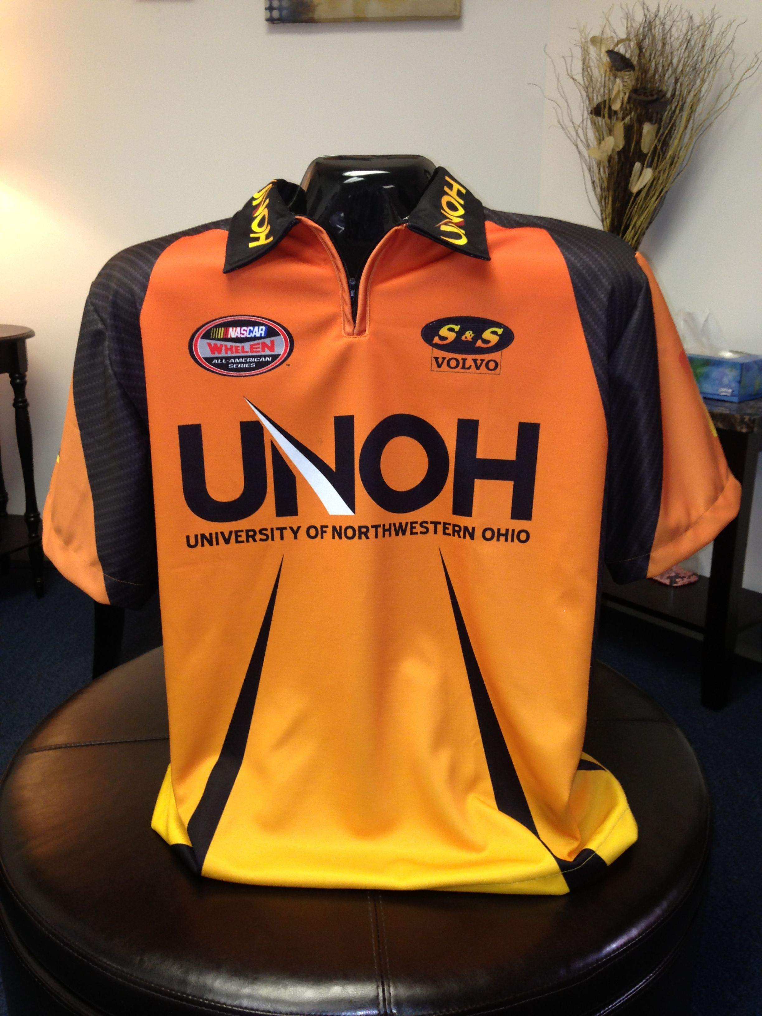 c80d28ce Custom Sublimated Racing Pit Crew Shirt for UNOH by www.StellarApparel.com