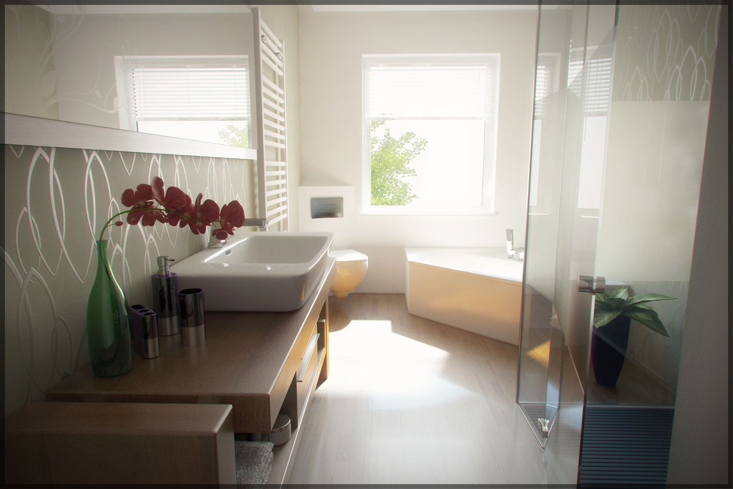 contemporary bathroom by phanoxjpg 15001000 - Contemporary Modern Bathrooms