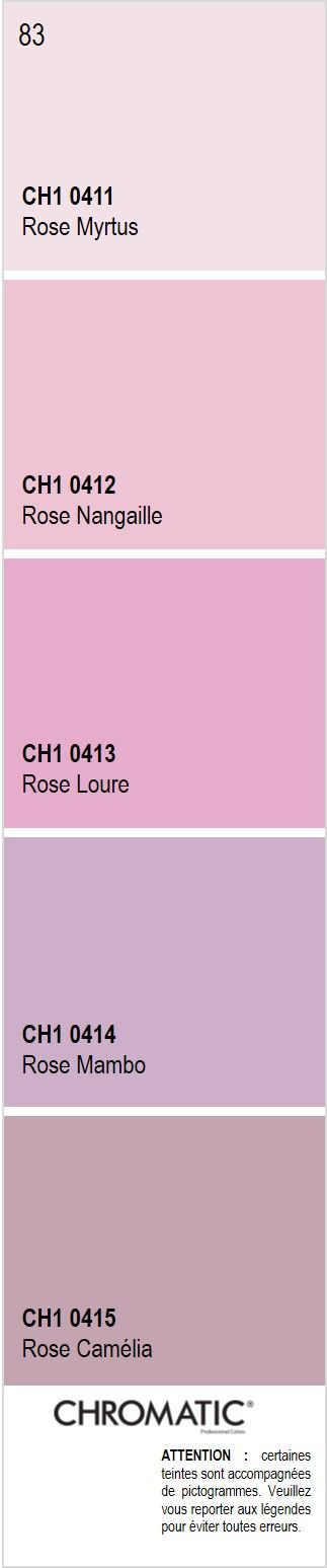 d couvrez toutes les nuances de rose du nuancier chromatic source d inspiration pour finaliser. Black Bedroom Furniture Sets. Home Design Ideas