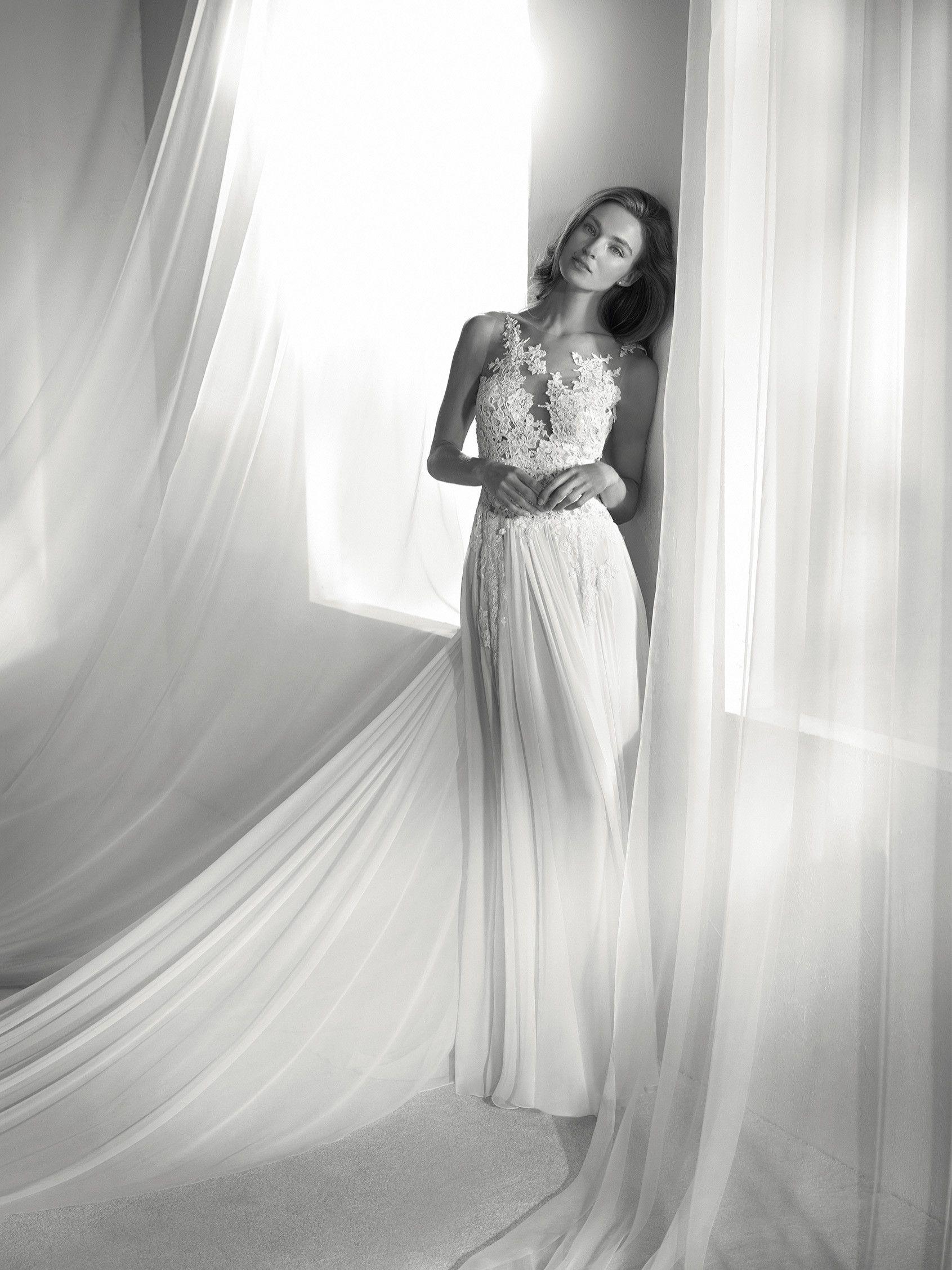 Vestido de novia tul y encaje | wedding | Pinterest