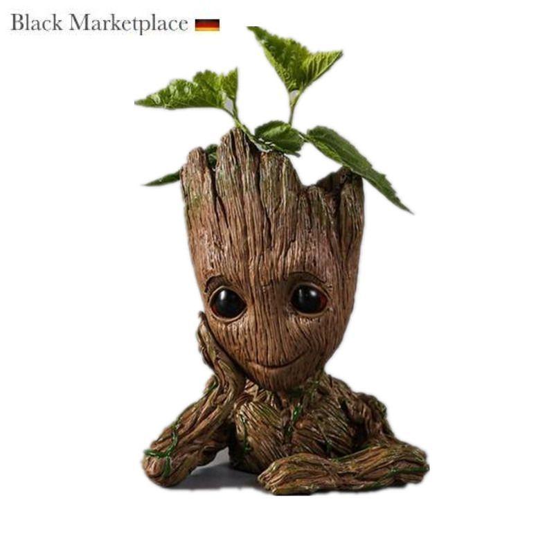 Baby Groot Blumentopf Ubertopf Gross Aquarium Deko Figur Stiftehalter Ebay In 2020 Flower Pots Baby Groot Plastic Flower Pots