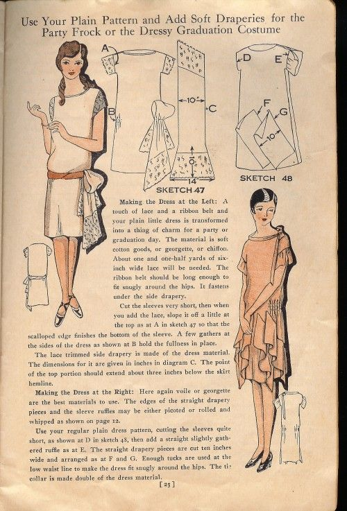 Easy Ways To Pretty Frocks Coletterie Party Dress Patterns Vintage Dress Patterns 1920s Dress Pattern