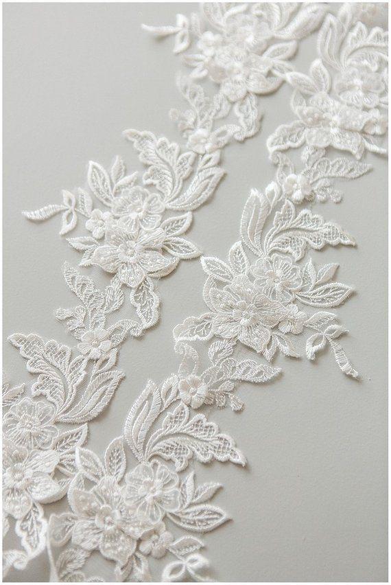 Photo of 2 yards romantic 3d Flower lace Trim, elegant bridal lace tr…