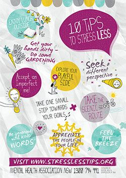 Our Mental Health Month 10 Tips to Stress Less from 2014