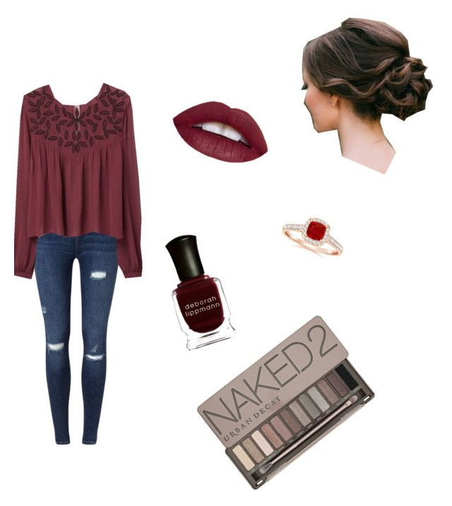 """Deep red"" by aine2463 on Polyvore featuring Miss Selfridge, MANGO, Deborah Lippmann and Urban Decay"
