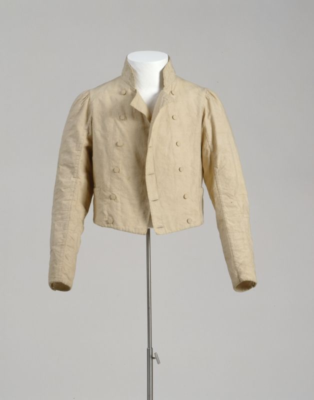 Man's Spencer And Lined With JacketCotton Linen tshdQr