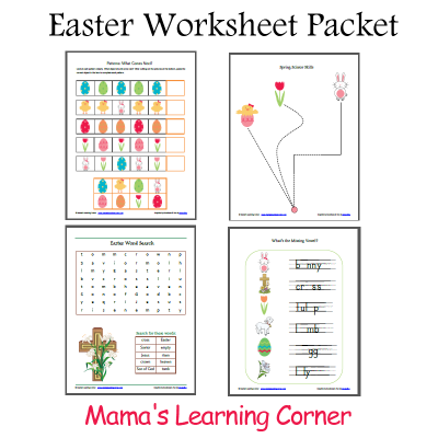 Printable Easter Worksheet Packet | Easter worksheets, Activities ...