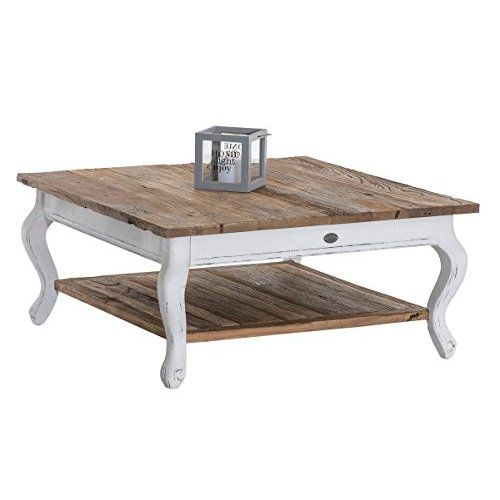 Table basse coffre en bois table d\'appoint vintage style shabby chic ...