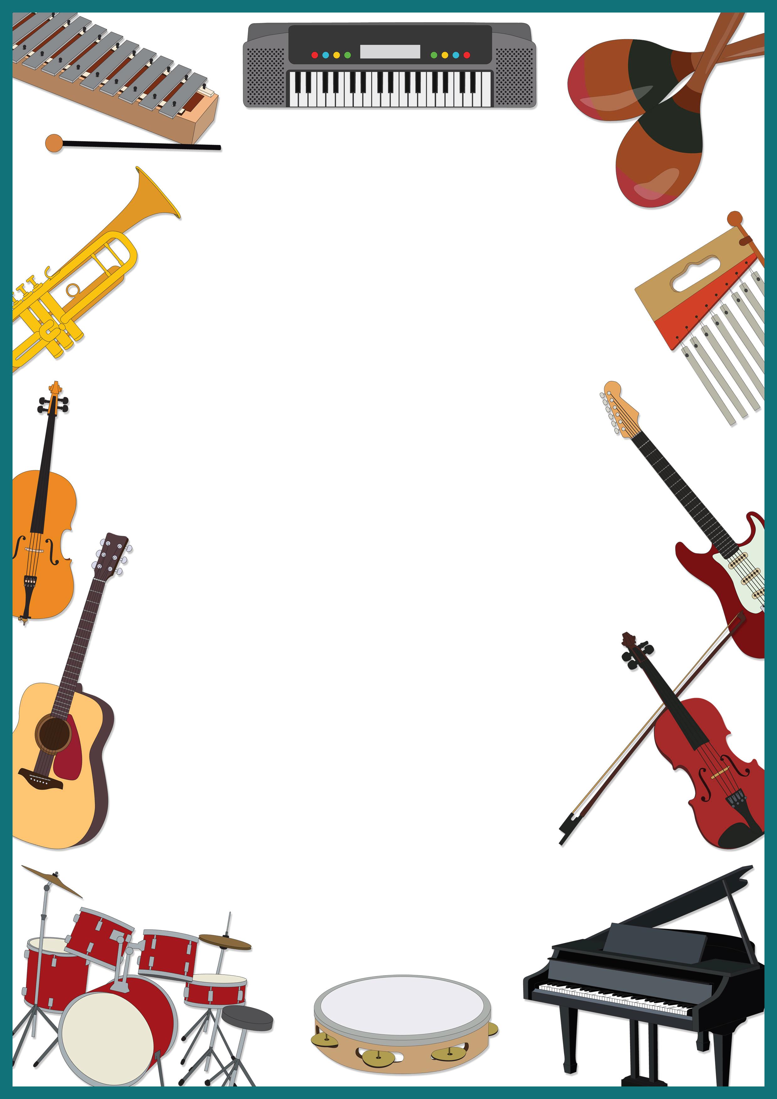 Frame border er eveli ka t pinterest stationary - Guitar border wallpaper ...