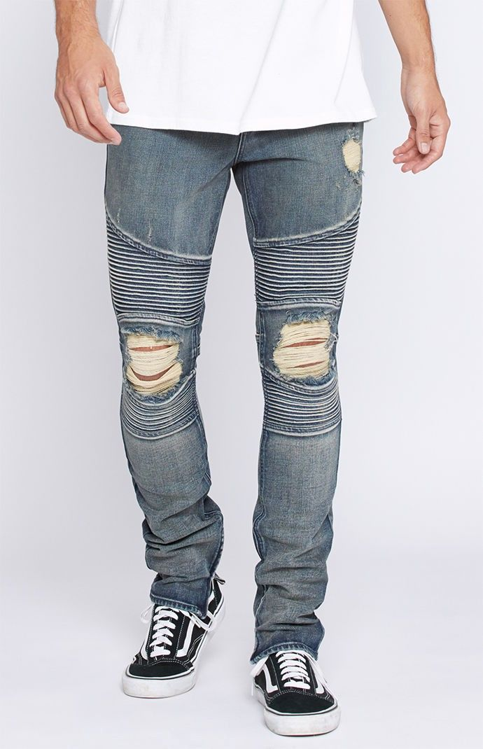 Jeans Vêtements, accessoires Urban Outfitters Dark Blue Acid Wash Skinny Jeans with ankle zips 31W 32L UK 12