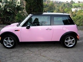 bfdec085 Mini Cooper Light Pink ☆ Girly Cars for Female Drivers! Love Pink Cars ♥  It's the dream car for every girl ALL THINGS PINK!via Walking on Sunshine