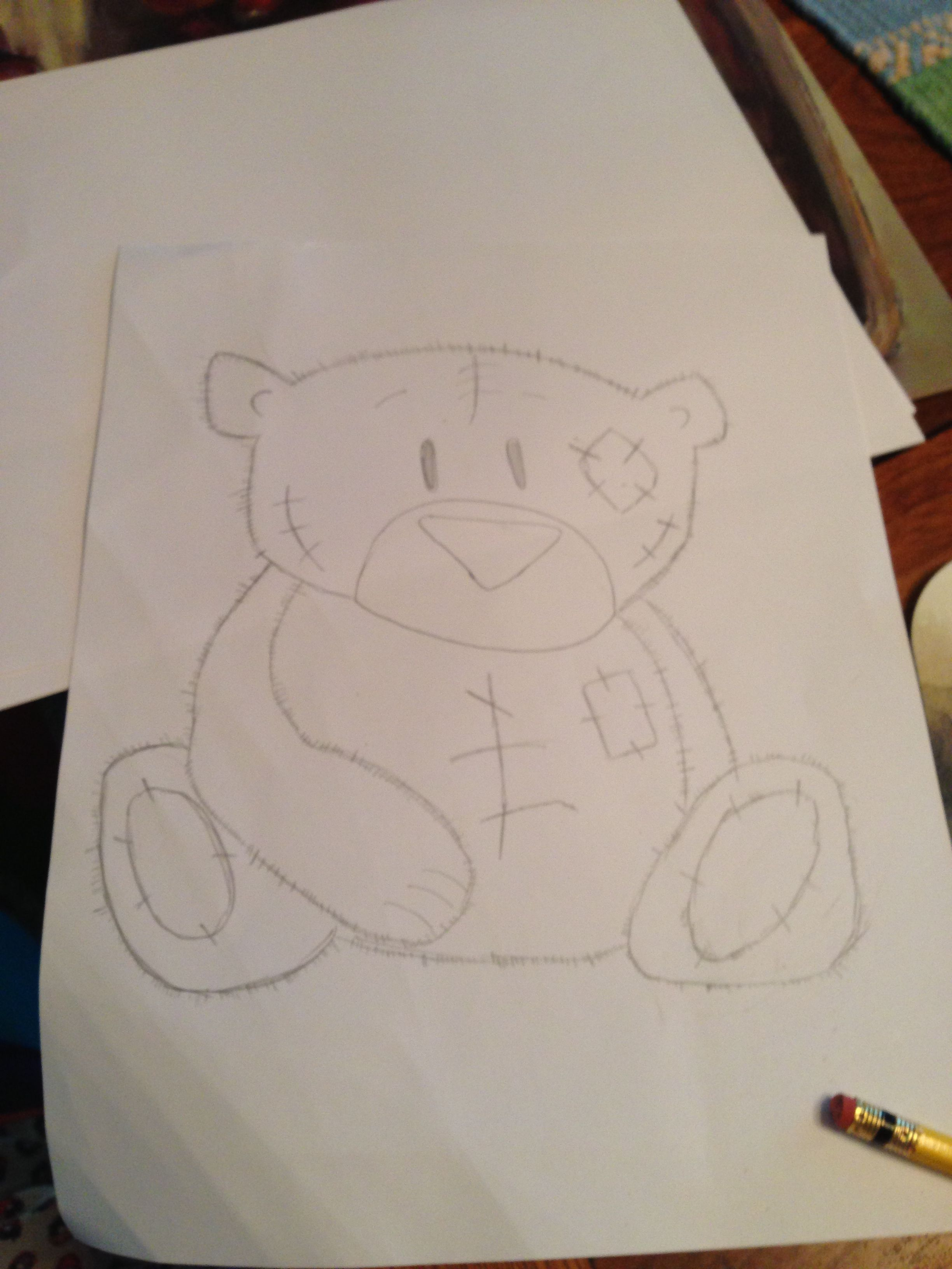 Teddy bear-things to draw