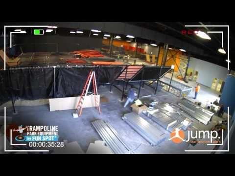 Jump Virginia Trampoline Park Installation By Funspot Indoor Trampoline Trampoline Park Trampoline