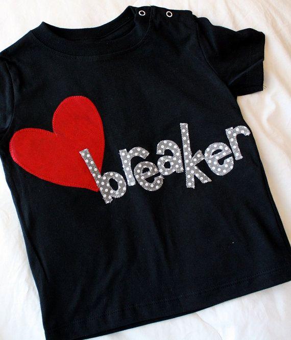 Kids Valentines Shirt Valentines Day Shirt Heartbreaker Shirt