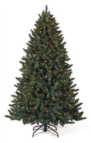 8 ft Balsam Spruce Artificial Christmas Tree LED Clear -- This is an