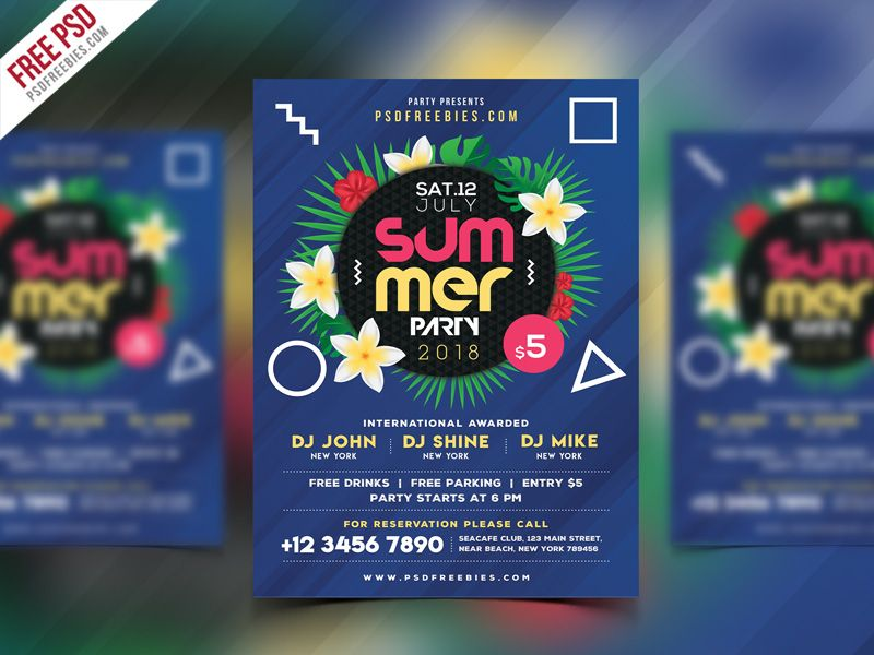 Summer Beach Party Flyer PSD Template