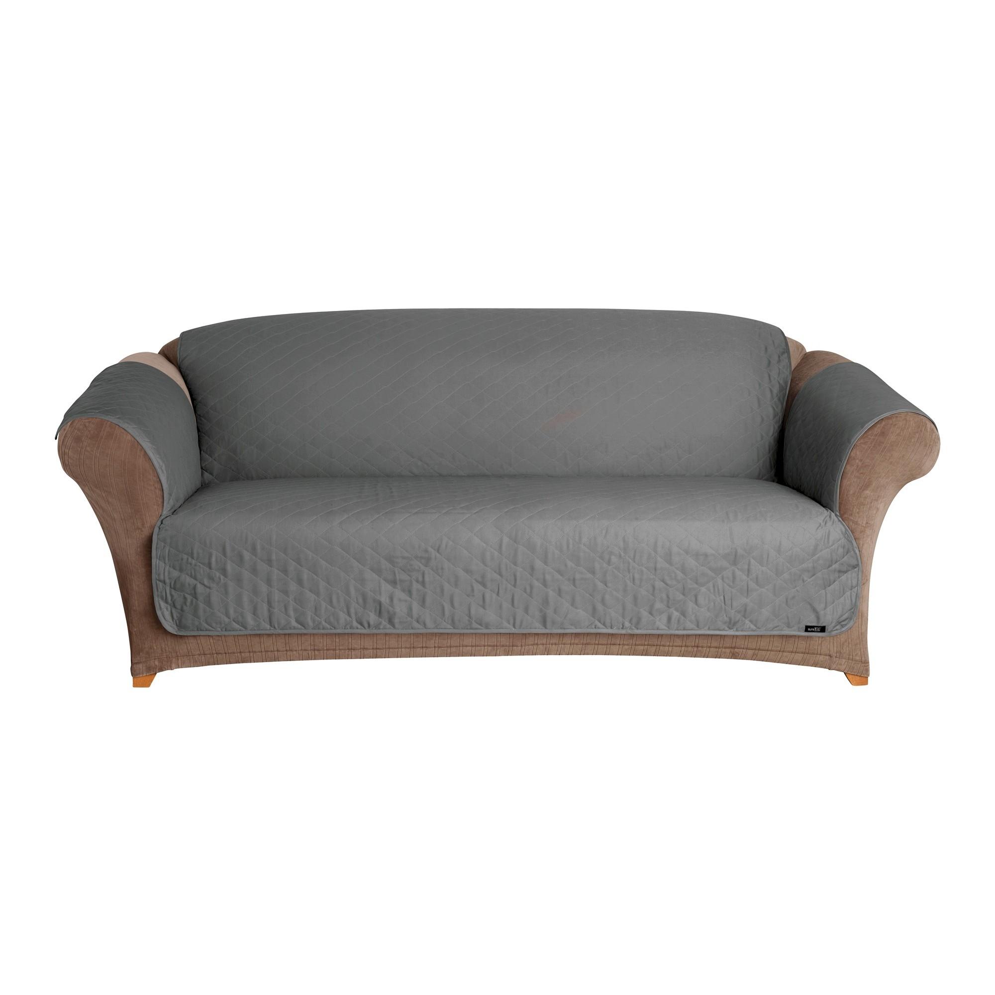 Gray Pet Friendly Sofa Slipcover Sure Fit Products Pet Sofa